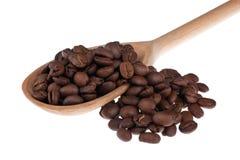 Деревянная ложка с кофе Стоковая Фотография