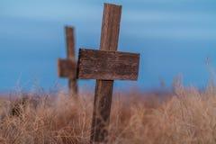 Деревянная могила Стоковые Изображения RF