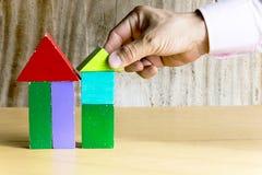 Деревянная модель дома стоковое фото