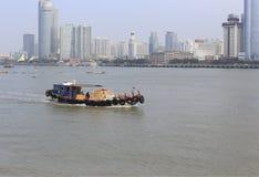 Деревянная моторная лодка Стоковое Изображение