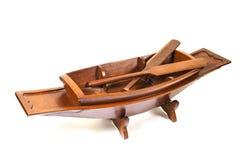 Деревянная модельная шлюпка Стоковые Фото