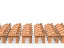 Деревянная модель домов Стоковые Изображения RF