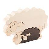 Деревянная овечка игрушки Стоковые Фотографии RF