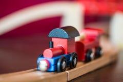 Деревянная локомотивная игрушка Стоковая Фотография RF