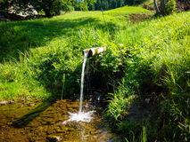 Деревянная дорога для воды - место жажды остатков и изумления Стоковые Фото