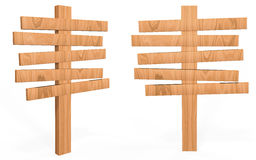 Деревянная доска знака стиля шаржа Стоковое фото RF