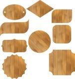 Деревянная доска, знак и планка, рамка для текста Иллюстрация штока