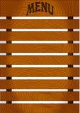Деревянная доска меню, иллюстрация вектора Стоковые Изображения