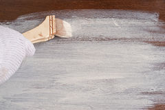 Деревянная доска покрашенная в белом цвете Стоковые Фото