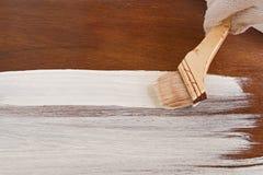 Деревянная доска покрашенная в белом цвете Стоковая Фотография