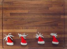 Деревянная доска с украшениями рождества Стоковое Изображение