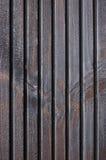Деревянная доска террасы планки, чернота, серая текстура краски деревянной смолки Стоковые Изображения RF