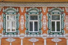 Деревянная отделка на Windows России стоковые фотографии rf