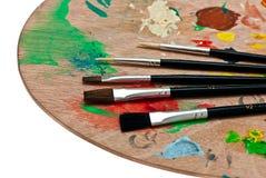 Деревянная палитра искусства. Стоковое Изображение RF