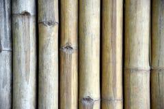 Деревянная панель для барьеров Деревянная предпосылка стены, текстура загородки планки старого коричневого тона бамбуковая для пр стоковая фотография