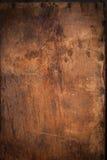 Деревянная панель с ржавыми ногтями Стоковые Фото
