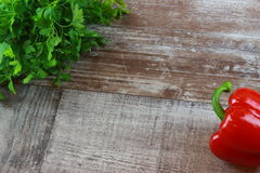 Деревянная паприка петрушки Стоковое фото RF