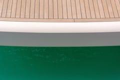 Деревянная палуба яхты Стоковые Фото