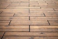 Деревянная перспектива пола Текстура фото предпосылки Стоковая Фотография RF