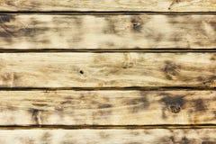 Деревянная поверхность горизонтальных обожженных доск с чернотой Стоковые Изображения