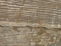 Деревянная поверхность с отказами и падениями краски Стоковые Изображения