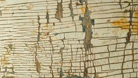Деревянная поверхность с треснутой краской Стоковое Изображение RF