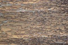 Деревянная поверхность с треснутой краской 2 Стоковые Изображения RF