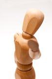 Деревянная позиция руки куклы стоковая фотография rf