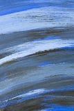 Деревянная покрашенная предпосылка голубой Стоковые Изображения
