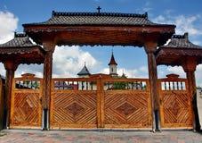 Деревянная портальная церковь, Румыния Стоковое Фото