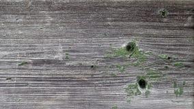 Деревянная предпосылка с затрапезной зеленой краской Стоковое Изображение RF