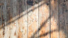 Деревянная предпосылка текстуры и тени Стоковое Изображение