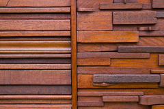 Деревянная предпосылка текстуры коричневого цвета планки Стоковое фото RF