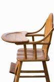 Деревянная предпосылка белизны высокого стульчика Стоковые Фото