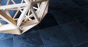 Деревянная предпосылка геометрической структуры полигона Стоковое фото RF