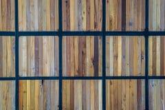 Деревянная предпосылка панели Стоковое Изображение