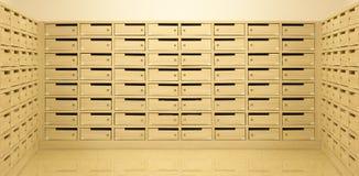 Деревянная предпосылка перспективы почтового ящика Стоковые Изображения RF