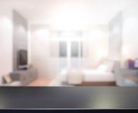 Деревянная предпосылка столешницы в спальне Стоковые Фотографии RF