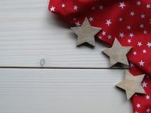 Деревянная предпосылка с звездами Стоковые Изображения RF