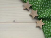 Деревянная предпосылка с звездами Стоковые Фото