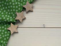 Деревянная предпосылка с звездами Стоковая Фотография