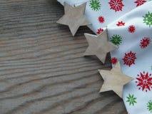Деревянная предпосылка с звездами Стоковое Фото
