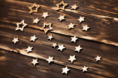 Деревянная предпосылка с рождеством играет главные роли в угле Стоковые Фото