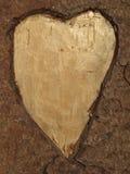 Деревянная предпосылка с сердцем стоковые изображения rf