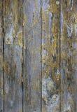 Деревянная предпосылка с слезанный краски Стоковые Изображения
