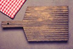 Деревянная предпосылка с тканью/варить предпосылку еды Стоковая Фотография RF