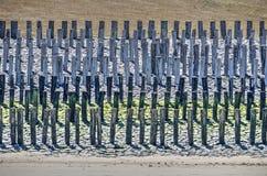 Деревянная прибрежная оборона стоковые фотографии rf