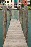 Деревянная пристань Венеция Стоковые Фотографии RF