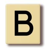 Деревянная плитка игры с письмом b Стоковое Фото
