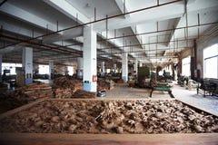 Деревянная работая фабрика стоковое изображение rf